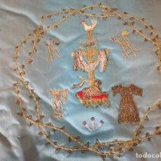 Antigüedades: COJIN BORDADO PARA NIÑO JESUS DE CUNA, ANTIGUO.. Lote 114818155