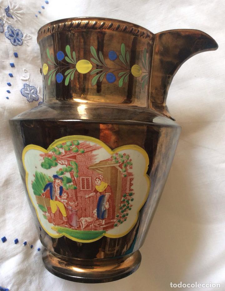 Antigüedades: ANTIGUA JARRA DE REFLEJOS (BRISTOL) FINALES SIGLO XIX ,CON DEFECTOS - Foto 4 - 114789699