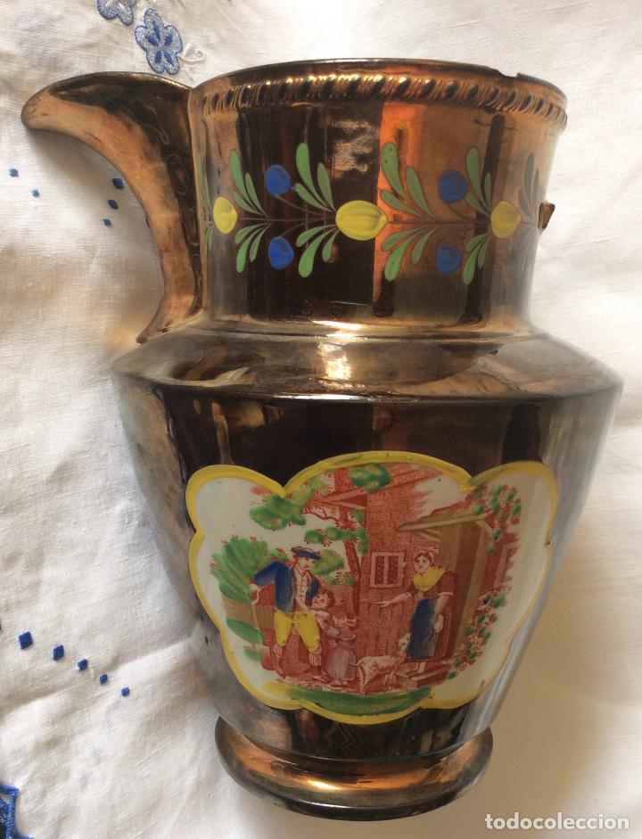 Antigüedades: ANTIGUA JARRA DE REFLEJOS (BRISTOL) FINALES SIGLO XIX ,CON DEFECTOS - Foto 5 - 114789699