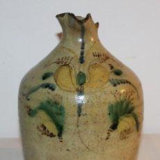Antigüedades: JARRA ACEITERA ALCUZA CERÁMICA ESMALTADA PUENTE DEL ARZOBISPO TALAVERA - SIGLOS XVIII - XIX. Lote 114839475