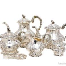 Antigüedades: JUEGO DE CAFE Y TE DE PLATA. Lote 122838279