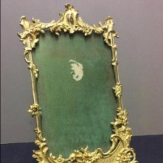 Antigüedades: MARCO DE BRONCE DORADO. ESTILO LUIS XV. Lote 114881543