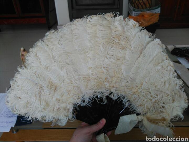 Antigüedades: Abanico Pericón Plumas avestruz. - Foto 3 - 114893240