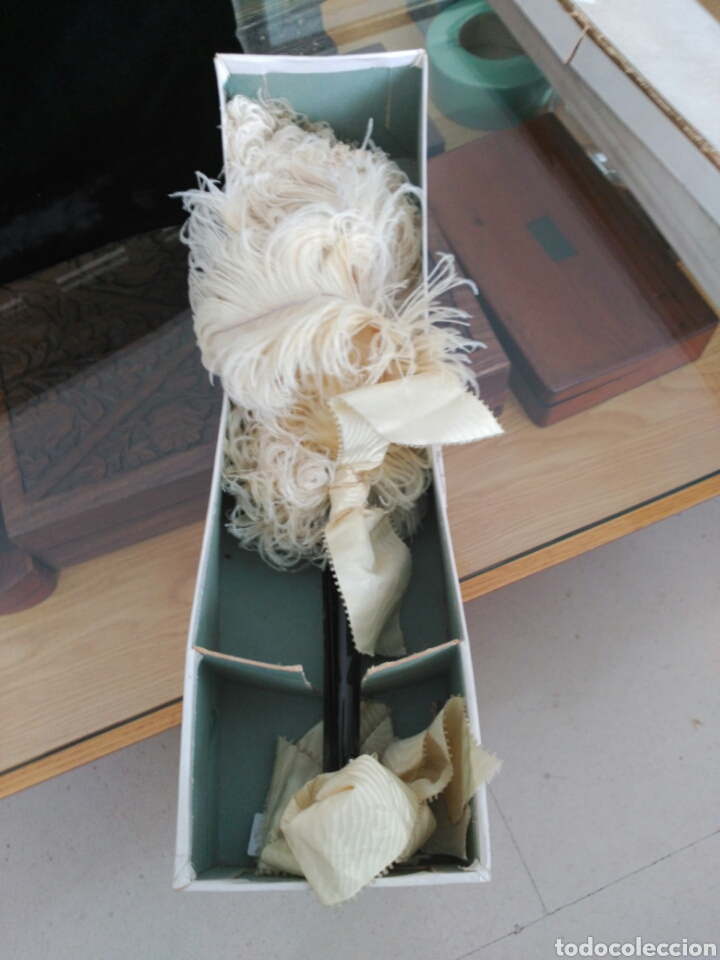 Antigüedades: Abanico Pericón Plumas avestruz. - Foto 4 - 114893240