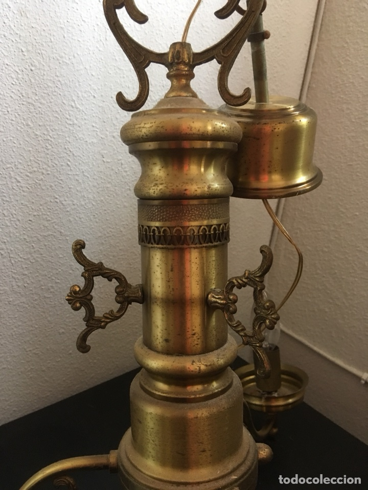 Antigüedades: LAMPARA DE METAL DE TECHO - Foto 2 - 114928931