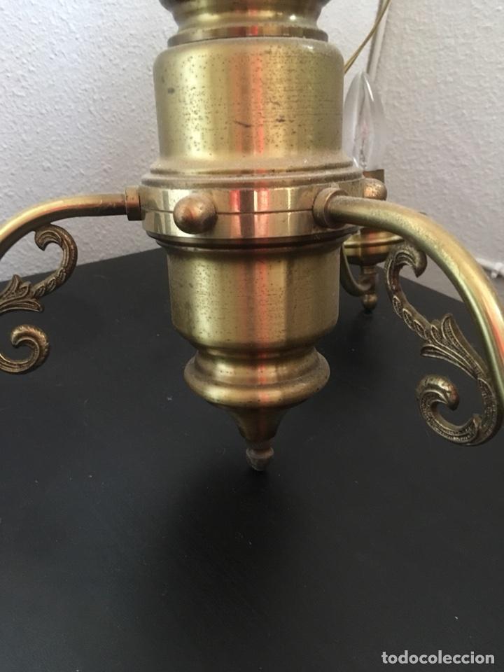 Antigüedades: LAMPARA DE METAL DE TECHO - Foto 3 - 114928931