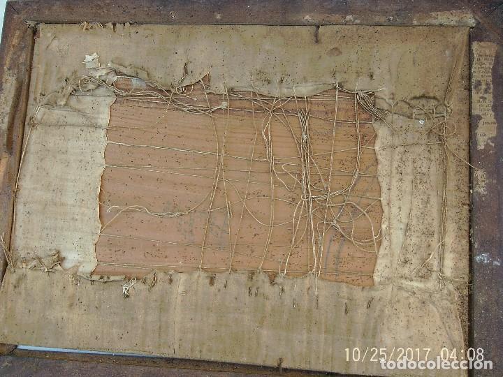 Antigüedades: BORDADO FLORES ENMARCADO - Foto 5 - 114930495
