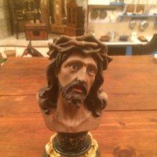 Antigüedades: ANTIGUO JESUS CRUCIFICADO ECCE HOMO / JESUCRISTO DE LIMPIAS AÑOS 40-50. Lote 114945879