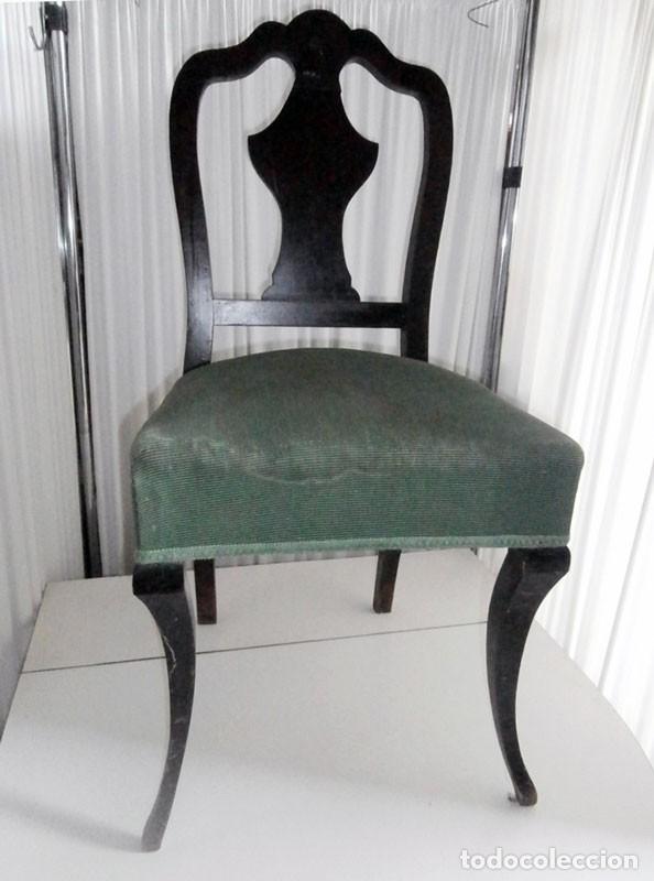 SILLA COQUETA DESCALZADOR (Antigüedades - Muebles Antiguos - Sillas Antiguas)