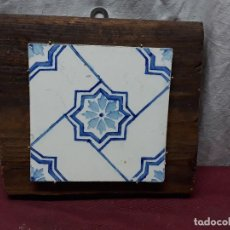 Antigüedades: AZULEJO ENMARCADO... . Lote 114947955