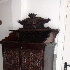 Antigüedades: MUEBLE NOGAL RENACIMIENTO. Lote 114957047
