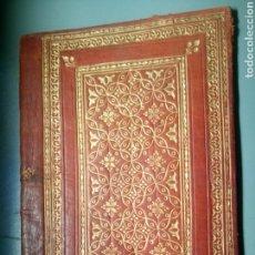 Antigüedades: FUNDA DE PIEL ANTIGUA PARA LIBRO BIBLIA MISAL. Lote 114959756