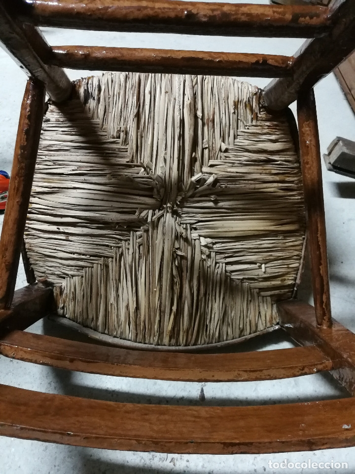 Antigüedades: SILLA ISABELINA, ASIENTO DE ANEA - Foto 8 - 104774659
