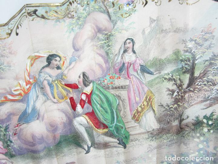 Antigüedades: Abanico isabelino de nácar, siglo XIX, 26,5cm de largo de varilla. - Foto 4 - 114983135