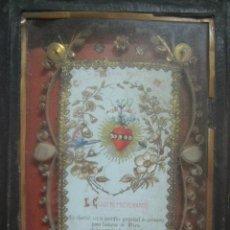 Antigüedades: PRECIOSO RELICARIO MULTIPLE CON 3 RELIQUIAS DEL SIGLO XVIII, CON ALTAR,EN CRISTAL, SELLADO Y LACRADO. Lote 114984763