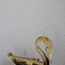 Antigüedades: PRECIOSO CENICERO DE CRISTAL DE MURANO - COLOR ÁMBAR - CISNE - PATO - PELÍCANO -SOCIETA CLOWN MURANO. Lote 114986667