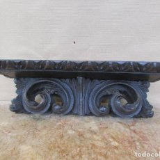 Antigüedades: PEANA MÉNSULA RECTANGULAR. ANTIGUA MADERA DE CASTAÑO. Lote 114987023