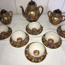 Antigüedades: FABULOSO JUEGO DE CAFÉ DE PORCELANA CHINA. Lote 114992827