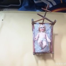 Antigüedades: FIGURA NIÑO JESUS CON CUNA. Lote 114994443