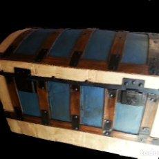 Antigüedades: BAÚL COFRE RESTAURADO. Lote 115012131