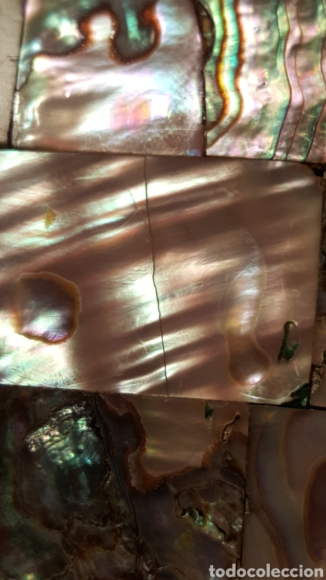Antigüedades: CAJA MEJICANA DE PLATA CON NÁCAR NATURAL - Foto 12 - 115021888