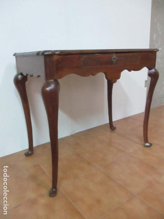 Antigüedades: Antigua Mesa Barroca Catalana - Tocador - Reina Ana - Madera de Nogal - S. XVIII - Foto 8 - 115053519