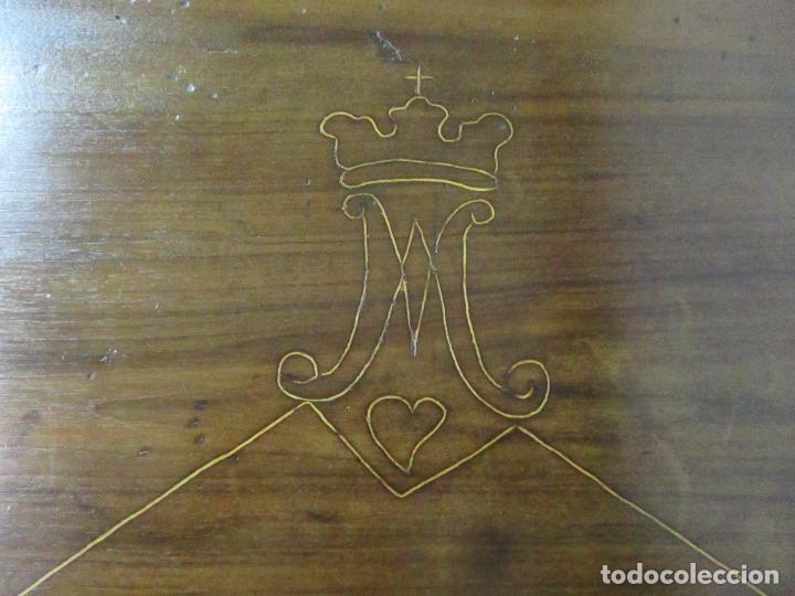 Antigüedades: Antigua Mesa Barroca Catalana - Tocador - Reina Ana - Madera de Nogal - S. XVIII - Foto 17 - 115053519