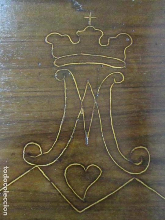 Antigüedades: Antigua Mesa Barroca Catalana - Tocador - Reina Ana - Madera de Nogal - S. XVIII - Foto 18 - 115053519