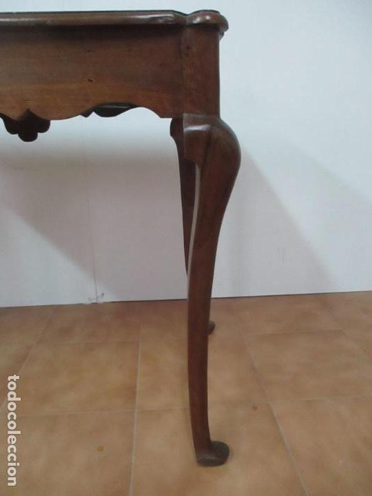 Antigüedades: Antigua Mesa Barroca Catalana - Tocador - Reina Ana - Madera de Nogal - S. XVIII - Foto 20 - 115053519