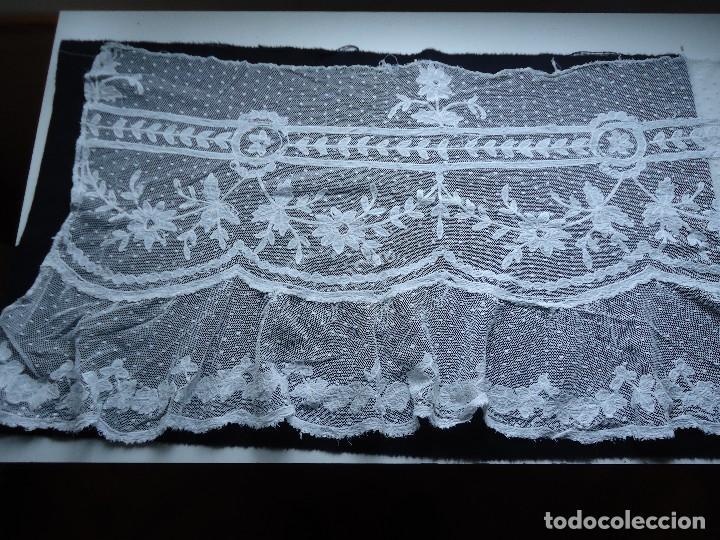 Antigüedades: ANTIGUO TUL BORDADO - Foto 3 - 115068583