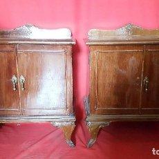 Antigüedades: PAREJA DE MESILLAS PARA RESTAURAR. . Lote 115078095