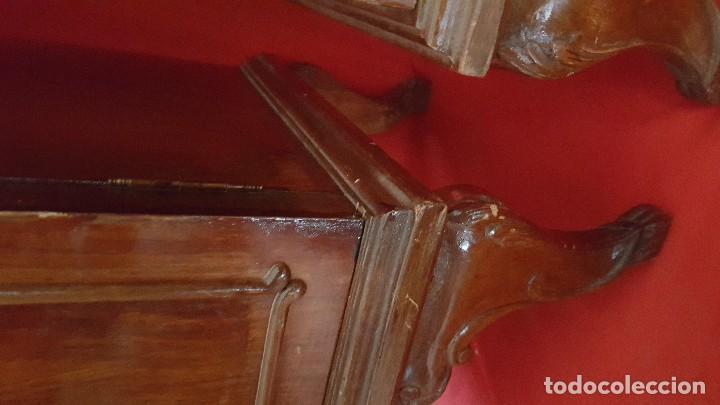 Antigüedades: Pareja de mesillas para restaurar. - Foto 5 - 115078095