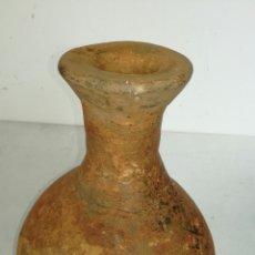 Antigüedades: BOTIJA O CANTARA DE BARRO MUY ANTIGUA Y BONITA. Lote 115082627