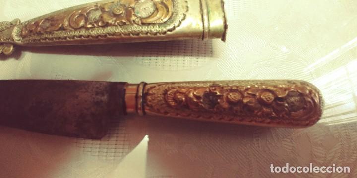 Antigüedades: Muy antiguo Cuchillo facon Argentino en alpaca med.23cm miren fotos - Foto 14 - 115108051