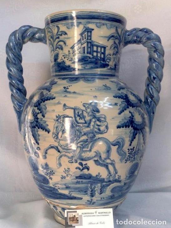 Antigüedades: RUIZ DE LUNA.- JARRÓN EN CERÁMICA DE TALAVERA. PPOS. XX - Foto 17 - 30021060