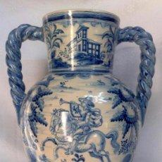 Antigüedades: RUIZ DE LUNA.- JARRÓN EN CERÁMICA DE TALAVERA. PPOS. XX. Lote 30021060