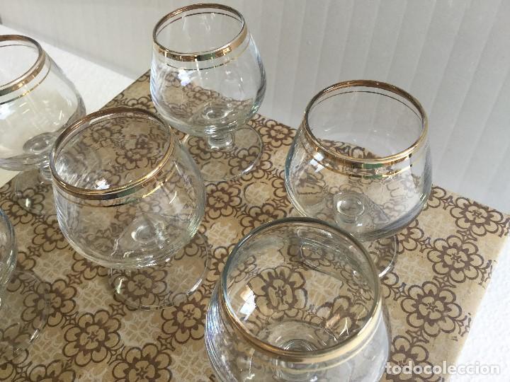 Antigüedades: Caja de 6 copas de coñac años 60 Napoleón cognac Vintage - Foto 8 - 115130635