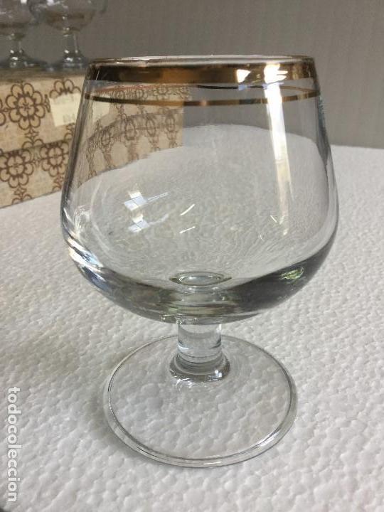 Antigüedades: Caja de 6 copas de coñac años 60 Napoleón cognac Vintage - Foto 9 - 115130635