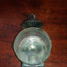 Antigüedades: ANTIGUO FARO DE CARRO CARROMATO FAROL LINTERNA. Lote 115139702