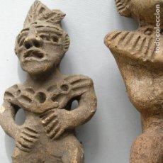 Antigüedades: IDOLO DIABLO PRECOLOMBINO ORIGINAL EN TERRACOTA. OCUMICHO. MICHOACAN. MEXICO.. Lote 115169843