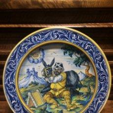 Antigüedades: GRAN PLATO DE TALAVERA SERIE QUIJOTE. Lote 115172766