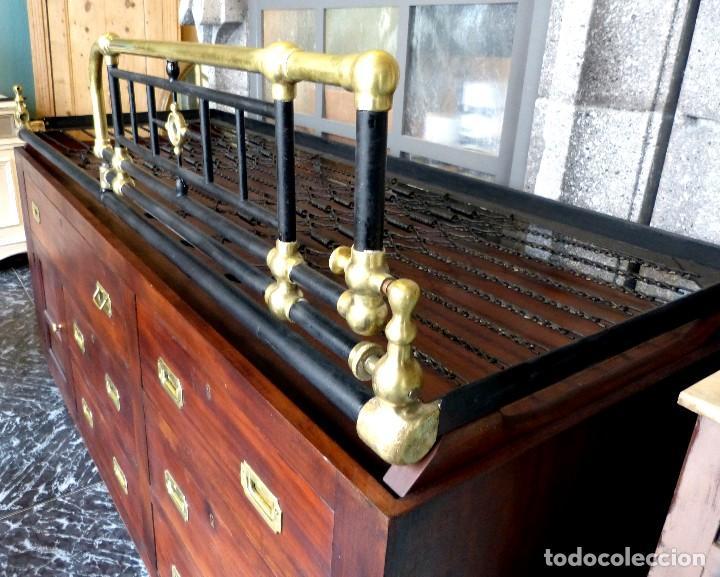 Antigüedades: Cama antigua de barco en madera de Teka - Foto 2 - 115176875