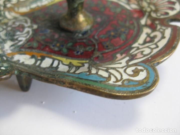 Antigüedades: PALMATORIA DE CLOISONNE DE IGLESIA, MUY ANTIGUA MARCADA BUEN ESTADO - Foto 3 - 115187343