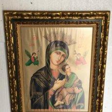 Antigüedades: CUADRO CON ICONO RELIGIOSO . Lote 115224011