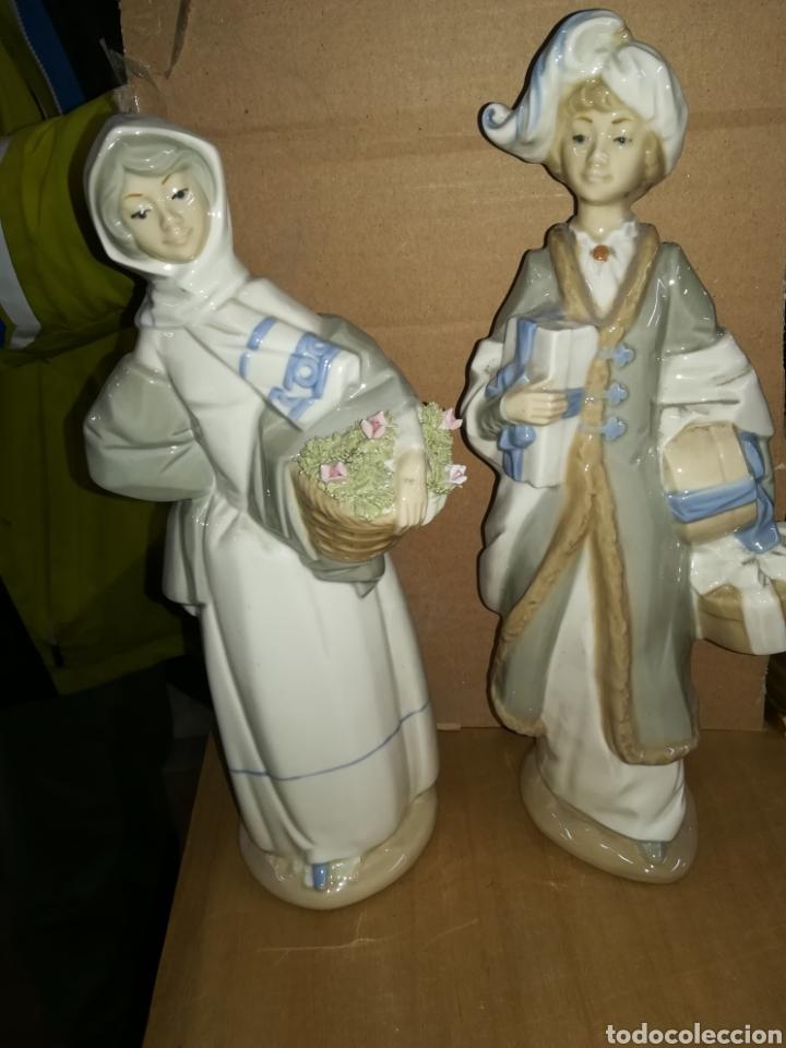 Antigüedades: Pareja de porcelanas firmadas - Foto 2 - 115244431