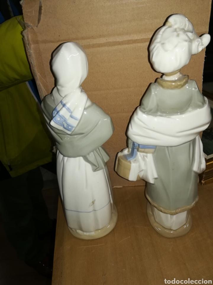 Antigüedades: Pareja de porcelanas firmadas - Foto 3 - 115244431