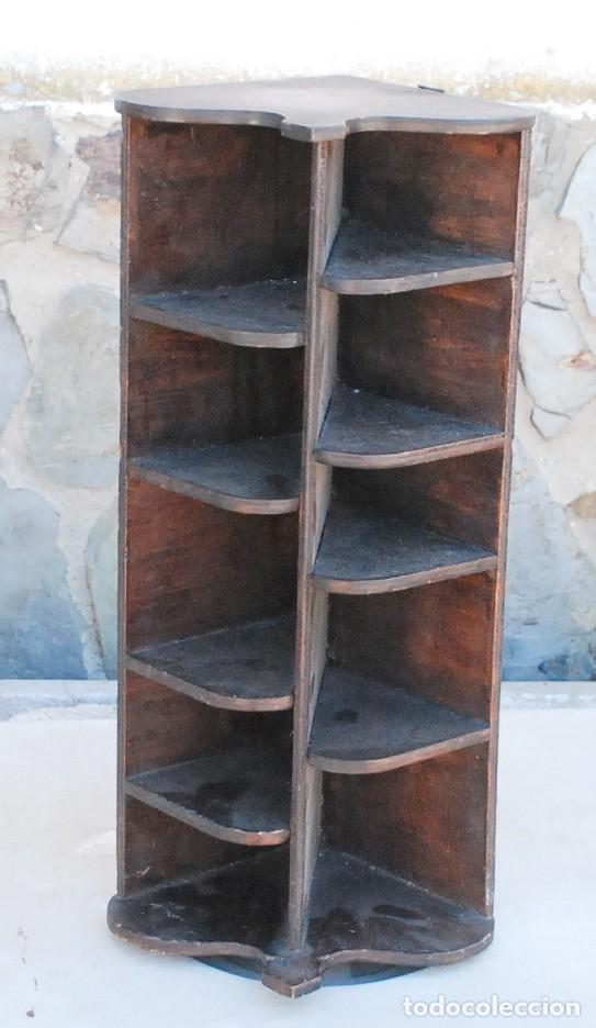 ANTIGUA ESTANTERIA REPISA ESQUINERA COLGAR PARED MADERA 45,5CM (Antigüedades - Muebles Antiguos - Repisas Antiguas)