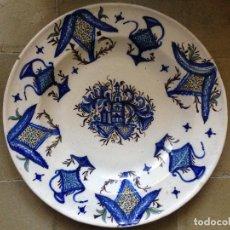 Antigüedades: PLATO ANTIGUO MANISES, RIBESALBES. Lote 115253479