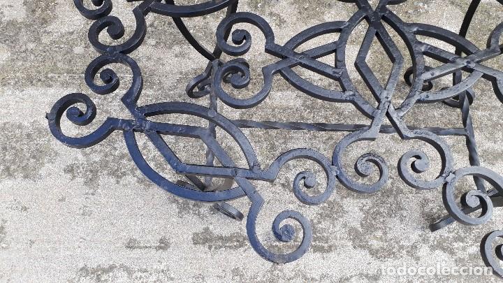 Antigüedades: Mesa antigua de hierro forjado, mesa auxiliar de forja, mesita de centro de salón terraza o jardín - Foto 16 - 115257367