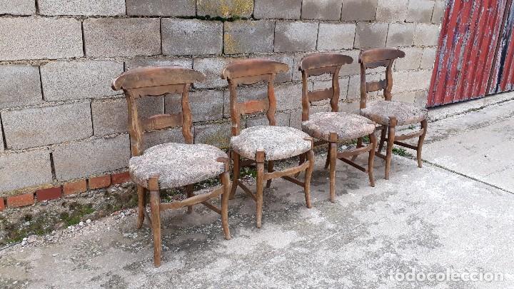 cuatro sillas antiguas rústicas, silla antigua - Comprar Sillas ...